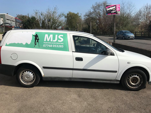 MJS Painting & Decorating Vehicle Livery